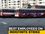 Video : 3,000 Buses Off Mumbai Roads Today As BEST Workers Start Indefinite Strike