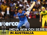 Video : MS Dhoni Special Gives India 1st Bilateral ODI Series Win In Australia