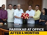 Video : On New Year, Ailing Manohar Parrikar At His Office After Months