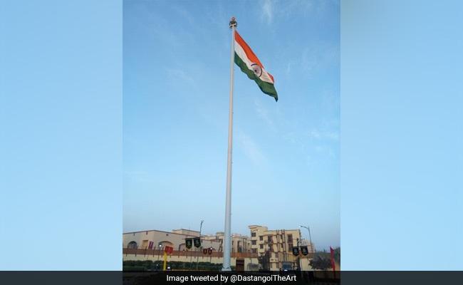 At Delhi Jail, A Record 111-Feet National Flag Seen From 5 Kilometre
