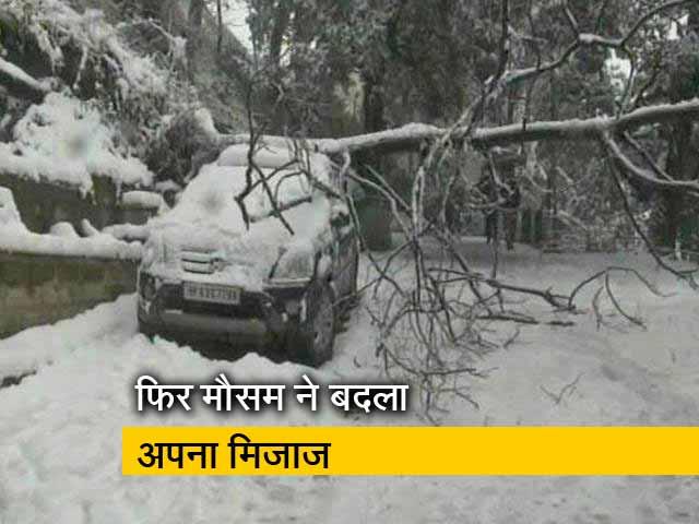 Video : जम्मू-कश्मरी: राजौरी में हुई जमकर बर्फबारी