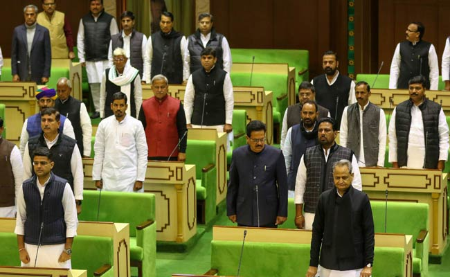 Lawmakers Walk Barefoot, Drive Tractors Before Rajasthan Assembly Session
