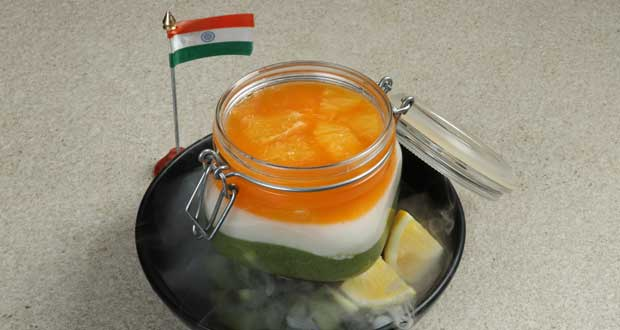 Tricolor Thai Fruit Jelly
