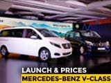 Video : Mercedes-Benz V-Class Launch & Prices