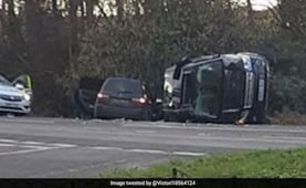 UK's Prince Philip 'Shaken' After Car Crash. SUV Flipped On Its Side