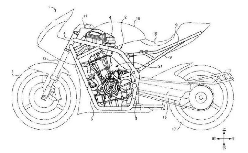 New patent drawings of Suzuki's turbocharged motorcycle reveal latest details