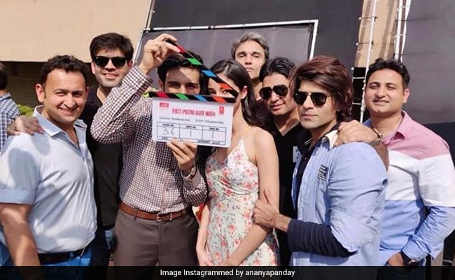Ananya Panday And Kartik Aaryan Start Shooting For Pati Patni Aur Woh Remake. Share Pic From First Day On Sets