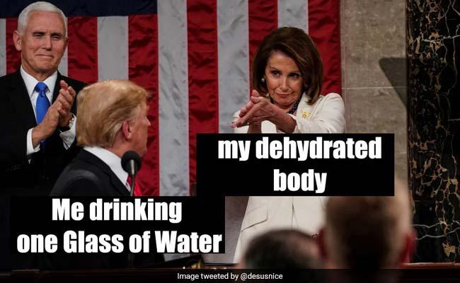 Nancy Pelosi Applauding Donald Trump Becomes Hit Meme On Twitter