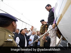 Chaos In UP Assembly Over Akhilesh Yadav Being Stopped At Airport