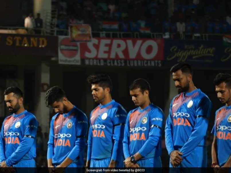 Indian Players Wear Black Armbands In 1st T20I To Pay Homage To Soldiers Killed In Pulwama Attack