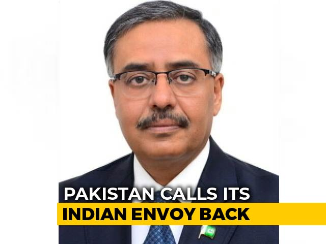 "Video : Pak Calls Back Envoy ""For Consultations"" Amid Tension Over Pulwama Attack"