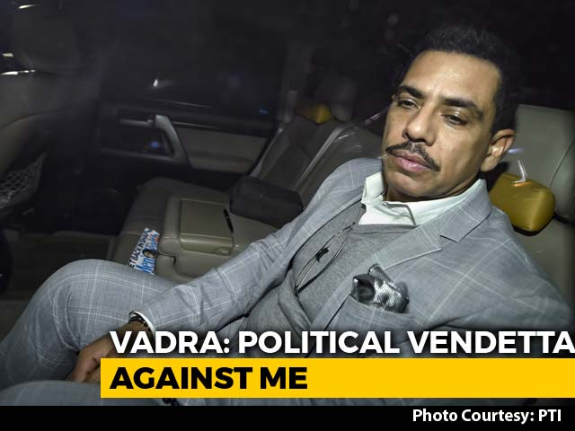 Video : Robert Vadra Grilled For 5 Hours, Will Be Questioned Today As Well
