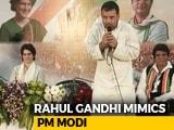 "Video: ""Narendra Modi Ji Used To Speak Like This"": Rahul Gandhi Mimics PM"
