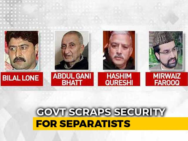 Video : Centre Withdraws Security For Separatists
