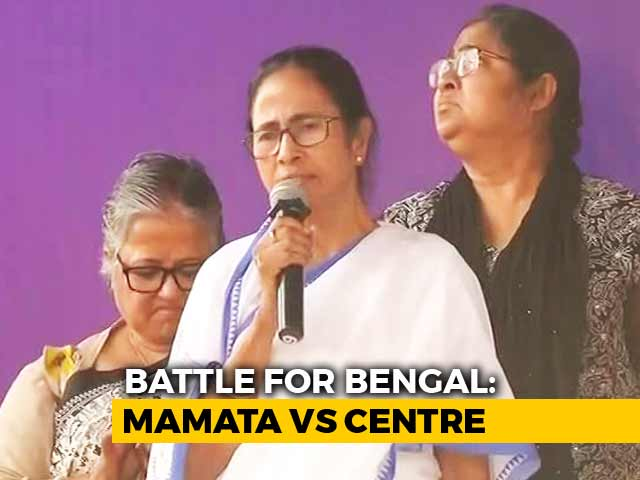 "Video : Mamata Banerjee On ""Satyagraha"" After Mega Clash With Centre"