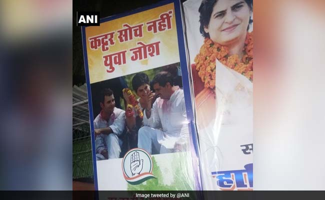 Row Over Poster Featuring Robert Vadra At Congress Office, Now Removed