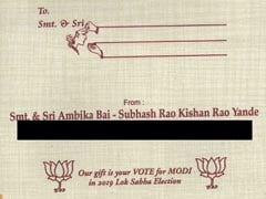 """Vote For PM Modi,"" Says Hyderabad Couple On Wedding Invite"