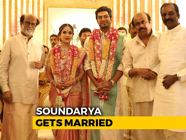 Big Day For Rajinikanth As Daughter Soundarya Gets Married
