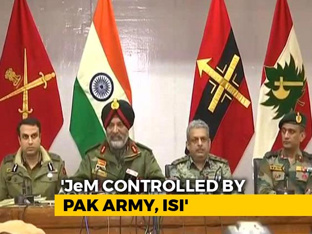 "Video : ""No Doubt That Pak Army Directly Controls Jaish-e-Mohammad,"" Says Army"