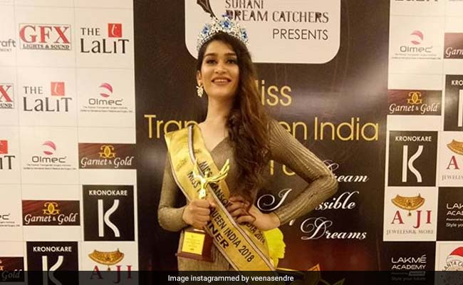 Miss Transqueen 2018 Veena Sendre Joins Congress