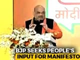 "Video : For 2019 Poll Manifesto, BJP Asks Voters Their ""Mann Ki Baat"""