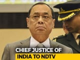 "Video : ""Mud-Slinging Against Judges Dangerous,"" Chief Justice Gogoi Tells NDTV"