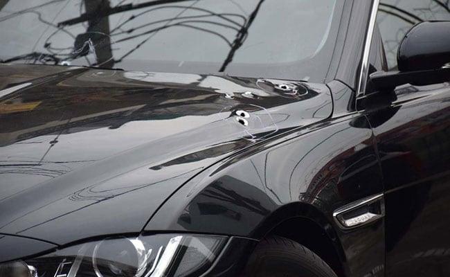 Jaguar Sedan Sprayed With Bullets In Shooting At Delhi's Pitampura