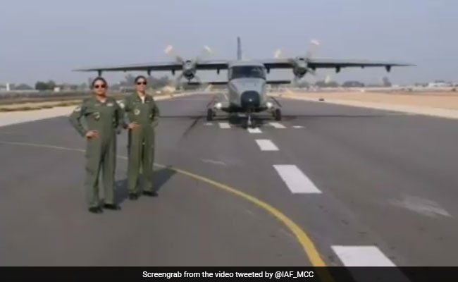 All-Women Crew Operate Parallel Taxi Track In Dornier Aircraft In Haryana