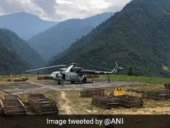 Air Force Choppers Airlift Materials For Bridge Construction In Arunachal