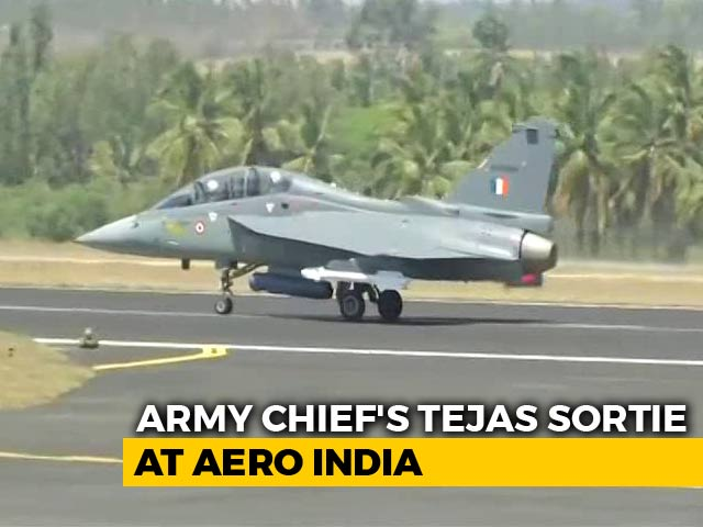 Video : Army Chief Flies In Made-In-India Tejas Fighter Jet For The First Time