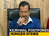 "Video : ""We Stand As One Nation Today"": Arvind Kejriwal Postpones Hunger Strike"