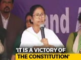 """Video : """"Moral Victory,"""" Claim Both Centre, Mamata Banerjee In Order On Top Cop"""