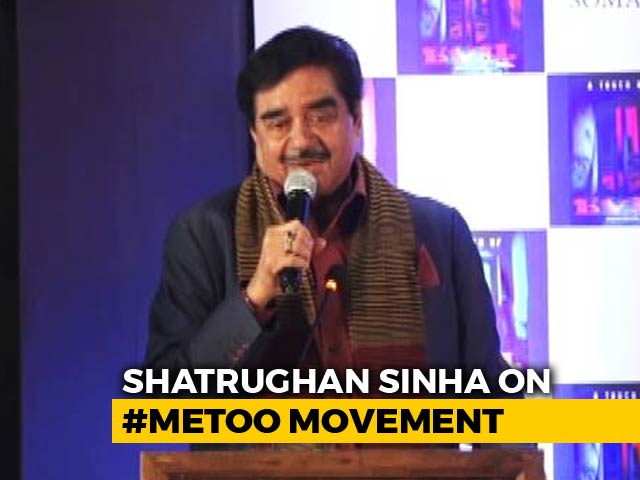 Video : Fortunate That My Name Didn't Come Out In #MeToo: Shatrughan Sinha