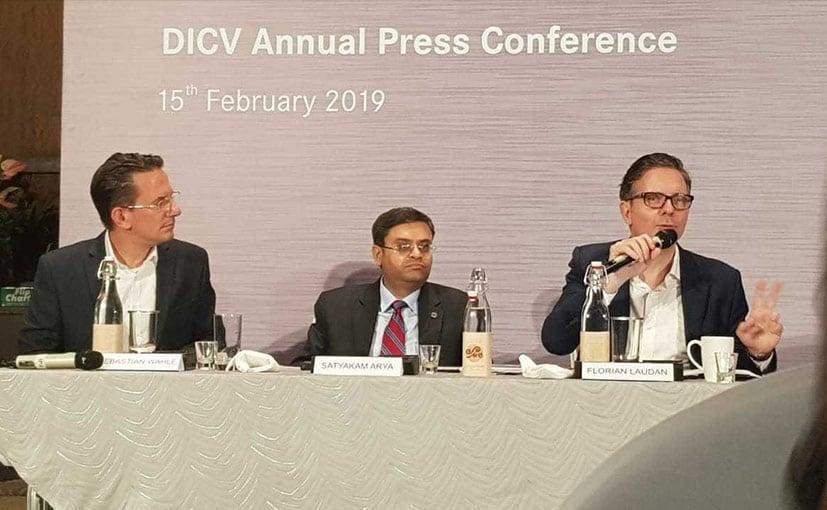 DICV MD&CEO  Satyakam Arya with Florian Maidan & Sebastian Wahle From Communications