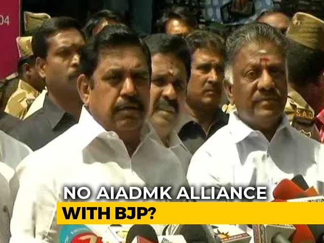 Video : Party Cadre Doesn't Want Alliance With The BJP, Says AIADMK