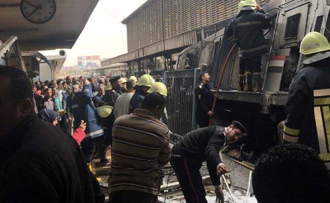At Least 20 Dead, 43 Injured After Train Crash And Fire At Cairo Station