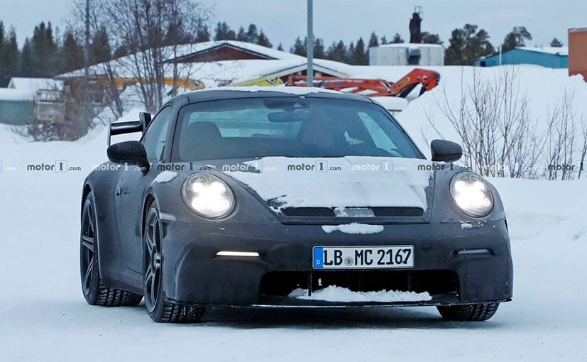 The 2020 Porsche 911 GT3 gets an even sharper front spoiler.