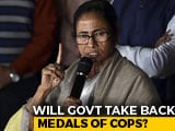 Video : Centre To Take Away Medals Of Cops At Mamata Banerjee's Protest: Sources