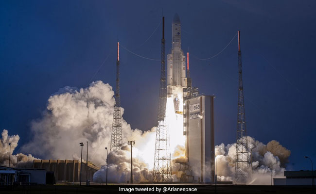 India Launches Communication Satellite Gsat 31 Onboard