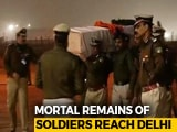 Video: Bodies Of Soldiers Killed In Pulwama Terror Attack Flown To Delhi