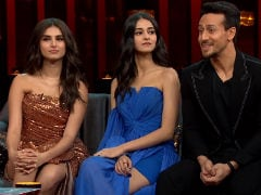 <I>Koffee With Karan 6</i>: Ananya Panday, Tara Sutaria React After Tiger Shroff Says 'They Are Fake With Each Other'