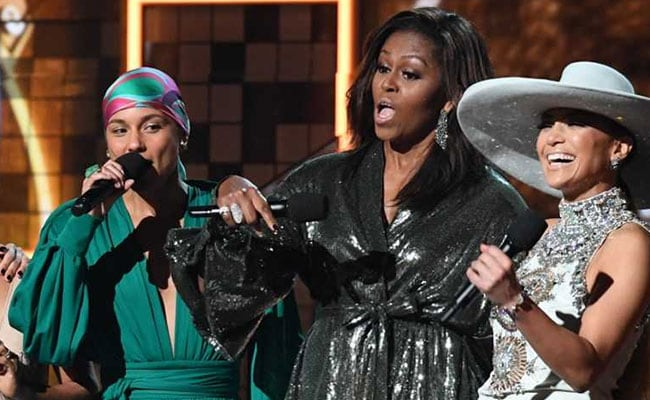 'Is That Right, Ladies?': Michelle Obama's Girl Power Message At Grammys