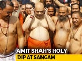 Video : Amit Shah, Yogi Adityanath Take Holy Dip At Kumbh Mela