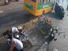 School Bus Brakes Failed In Busy Andhra Traffic. Watch What Happened Next