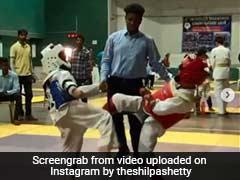 शिल्पा शेट्टी के बेटे ने दिखाए जबरदस्त ताइक्वांडो मूव्स, विरोधी को चित कर जीत लिया गोल्ड, देखें Video