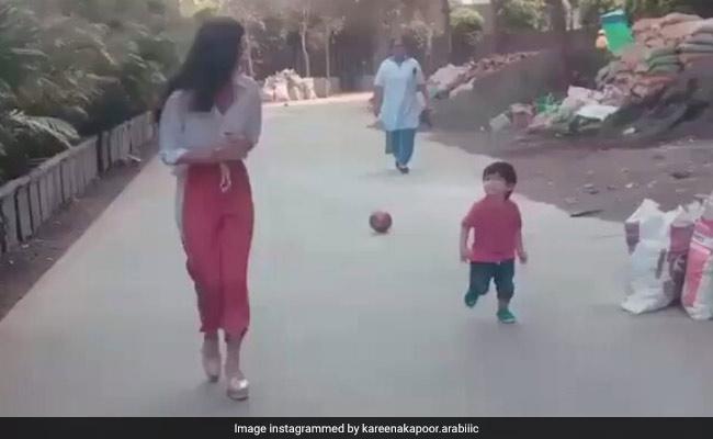 तैमूर अली खान ने एक्ट्रेस कियारा आडवाणी को रेस में यूं दिया चकमा, वायरल हो रहा है Video