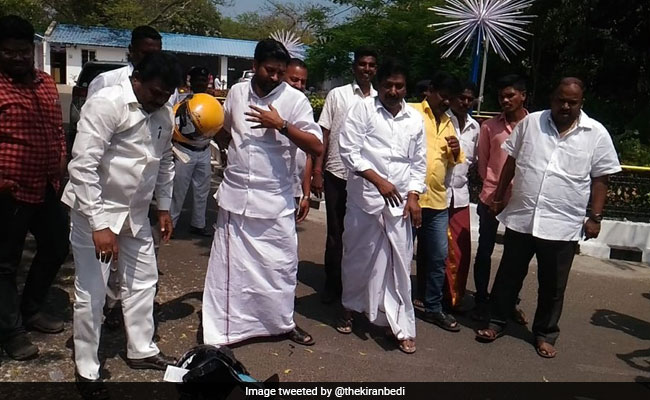 To Protest Mandatory Helmets, AIADMK Lawmakers Are Smashing Them