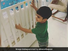 Ekta Kapoor's Pic Of 'Big Brother' Laksshya Watching Over Baby Ravie Is Everything