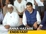 Video: Anna Hazare Calls Off Fast After Devendra Fadnavis Says Demands Accepted