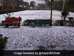 Did It Snow Near Delhi? Thick Blanket Of Hail Leaves Noida White